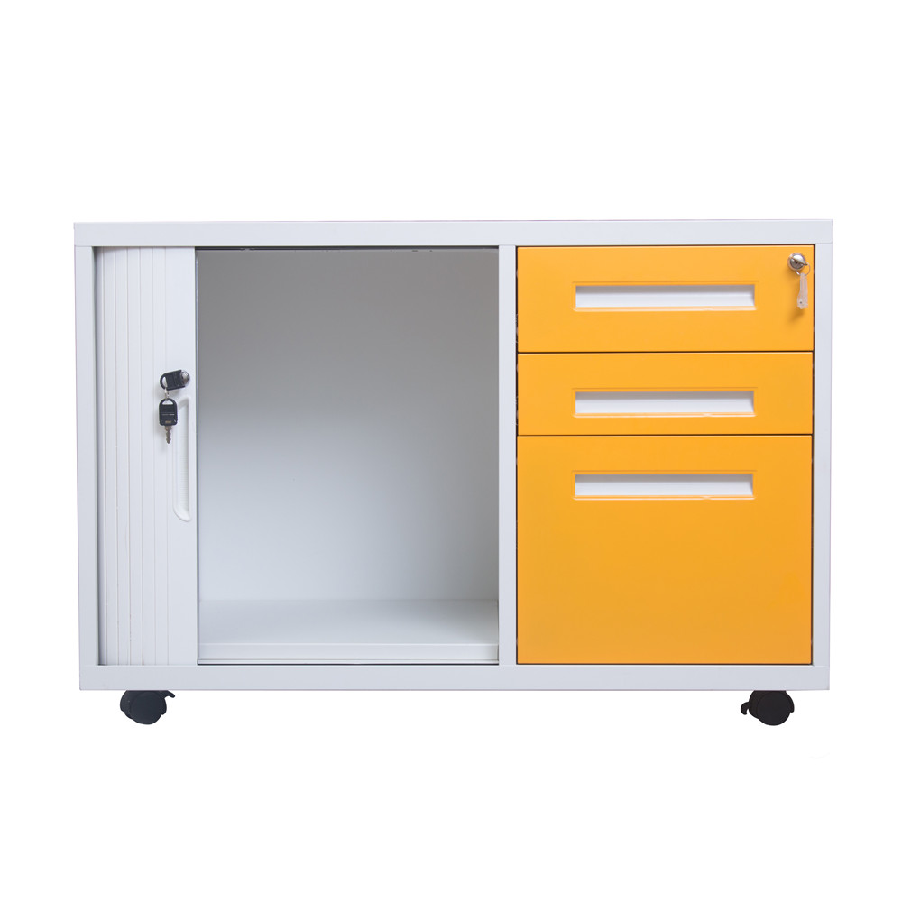 Narrow Edge Mobile Cabinet with Tambour Door