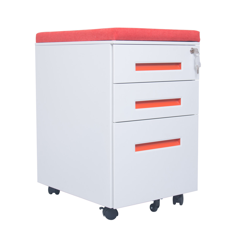 Steel Mobile Filing Cabinet With Cushion
