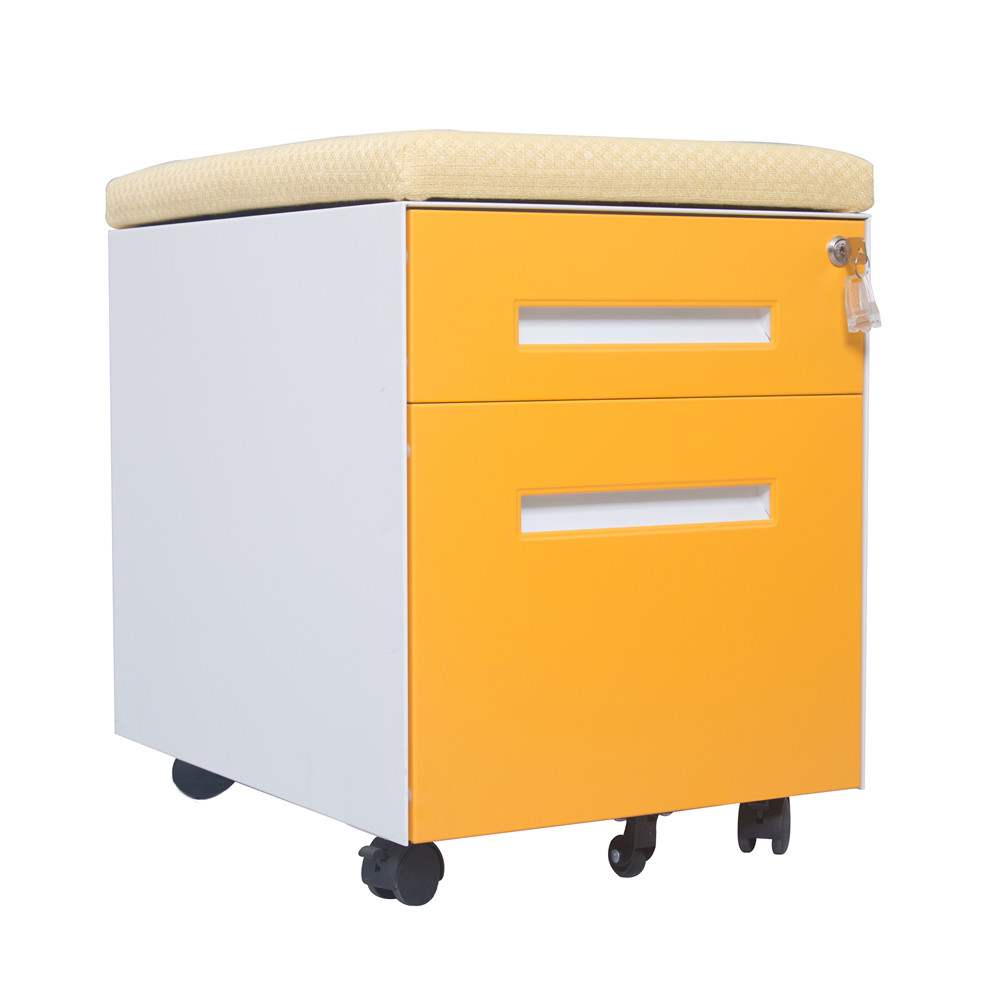 Mobile Filing Cabinet With Cushion