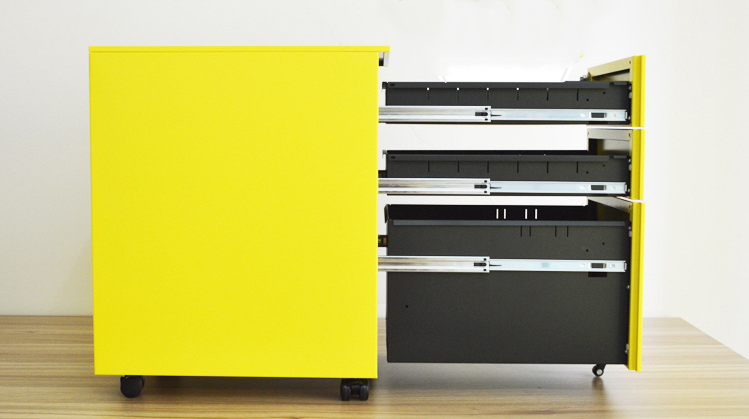 Yellow Mobile Drawers Cabinet