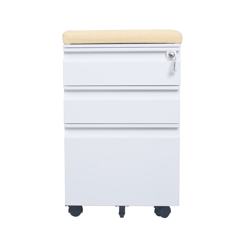 White Mobile Drawers Cabinet wi