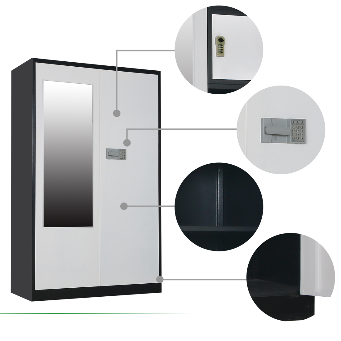 Electronic Coded Lock Metal Wardrobe 2.jpg