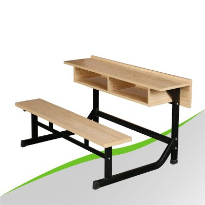 Siamesed Double Desk and Chair