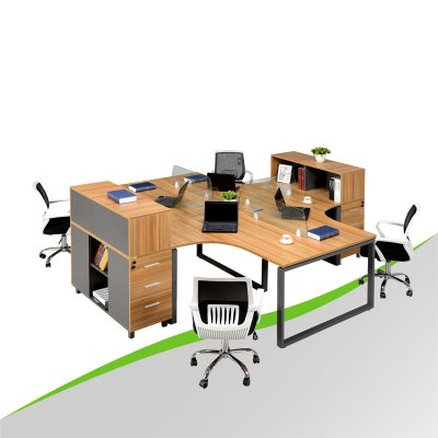 Circular Office Desk with Drawer Cabinet