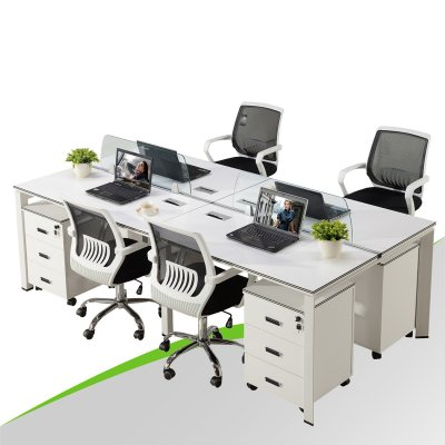 Knowed Down Office Desk for 4 Person