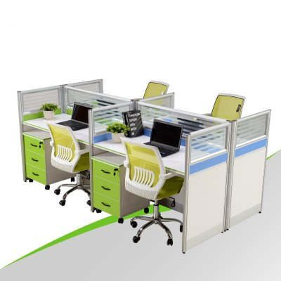 Office Partition Workstation for 4 People