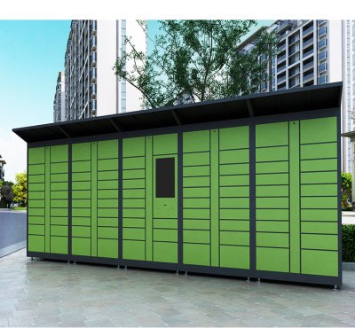 Outdoor electronic smart intelligent parcel delivery locker